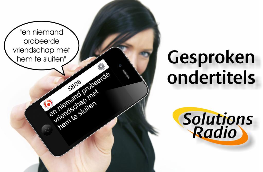 Gesproken Ondertitels-App poster van Solutions Radio